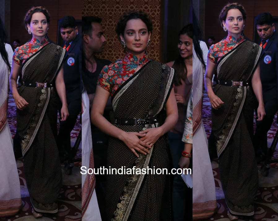 Kangana Ranaut in Sabyasachi at CNN News Rising India Programme 1
