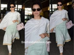 Kangana Ranaut in a salwar at the airport