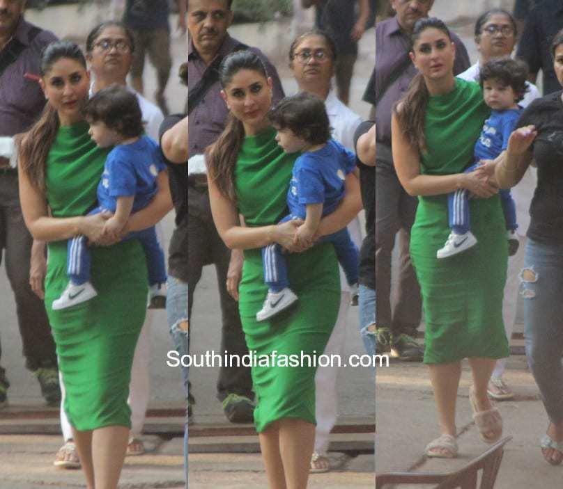 Kareena Kapoor with Taimur Ali Khan during her shoot