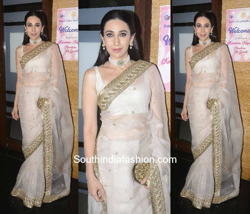 Karishma Kapoor in Sabyasachi for Rotary Club Awards