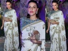 Neha Dhupia in Sabyasachi at Aza Fashions Store Launch