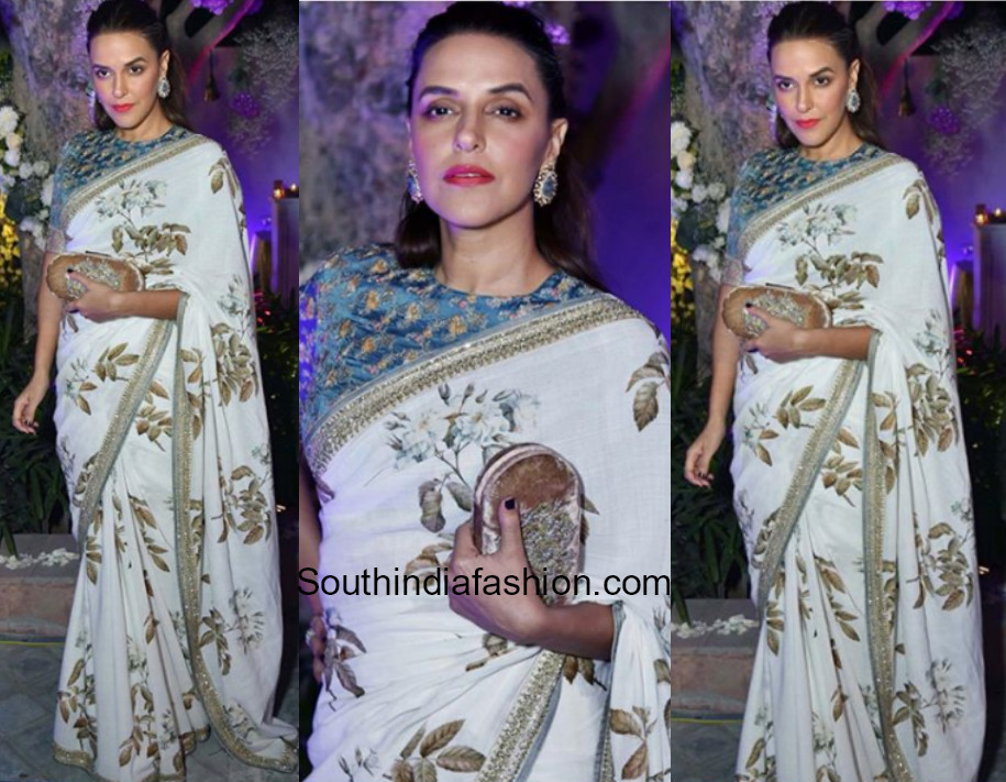 Neha Dhupia in Sabyasachi at Aza Fashions Store Launch