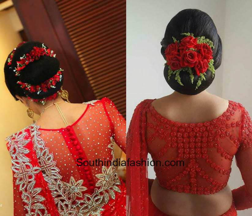 Red Embroidery Saree Blouse Designs 7