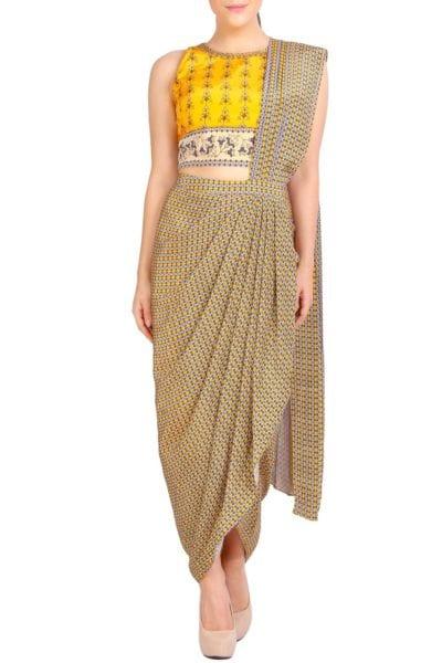 readymade drape saree