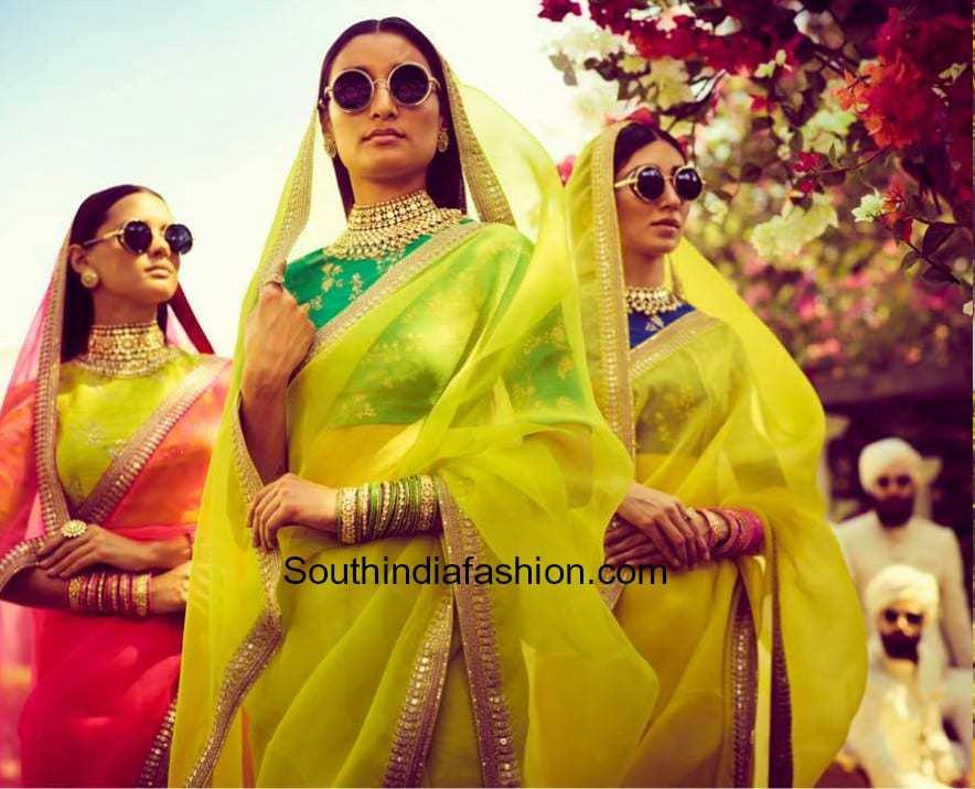 1e62337c7f1a Sabyasachi Spring - Summer 2018 Collection – South India Fashion