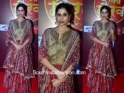 Sai Tamhankar in Punit Balana at Zee Gaurav Awards 2018