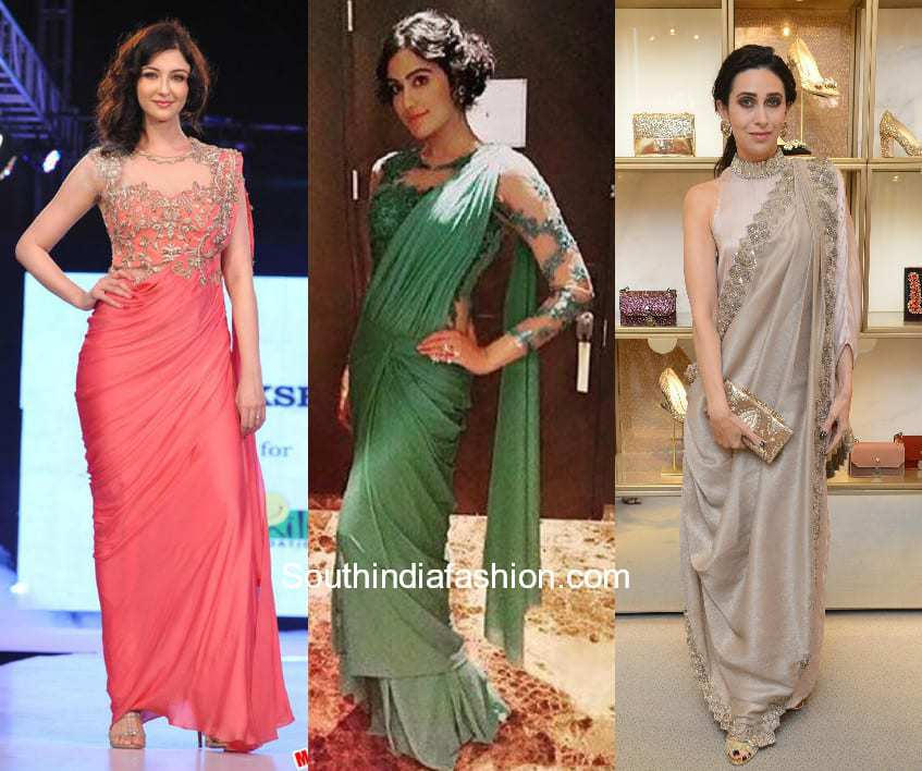 Saree Drape Sangeet Outfits