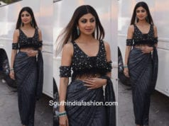 Shilpa Shetty in 431-88 by Shweta Kapoor at Super Dancer Show