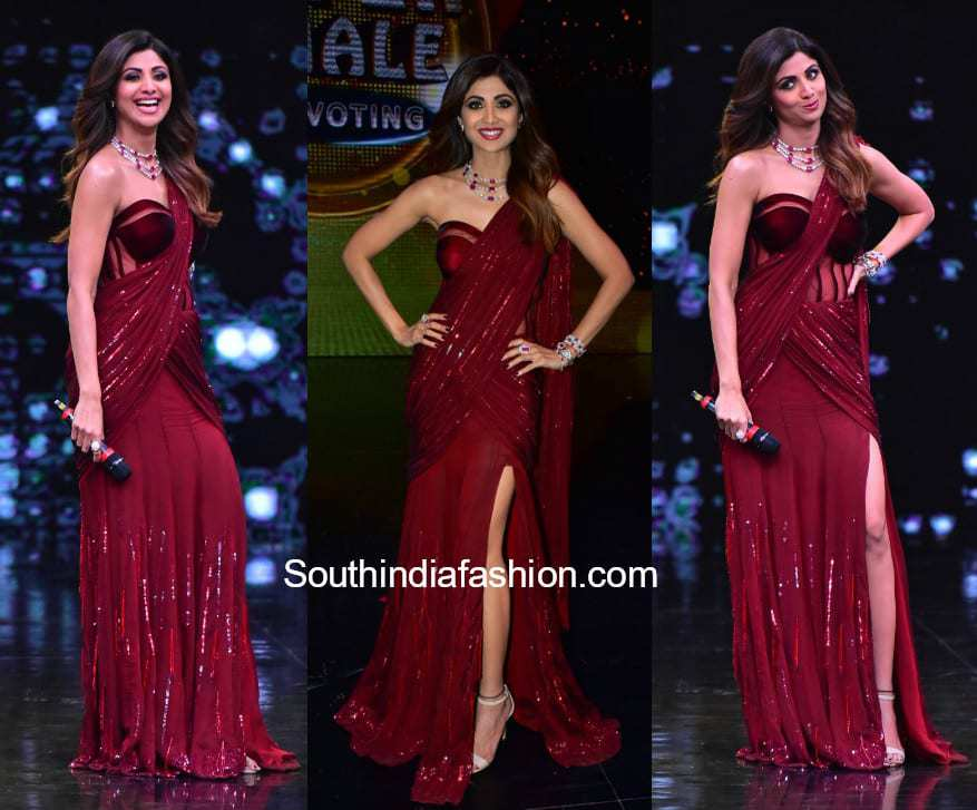 Shilpa Shetty in Manish Malhotra – South India Fashion