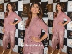Shilpa Shetty in a dhoti kurta at a make-up studio launch 1