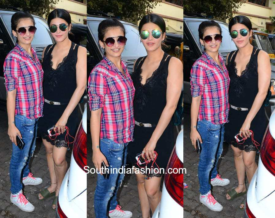 Shruti Haasan and Akshara Haasan in a casual look