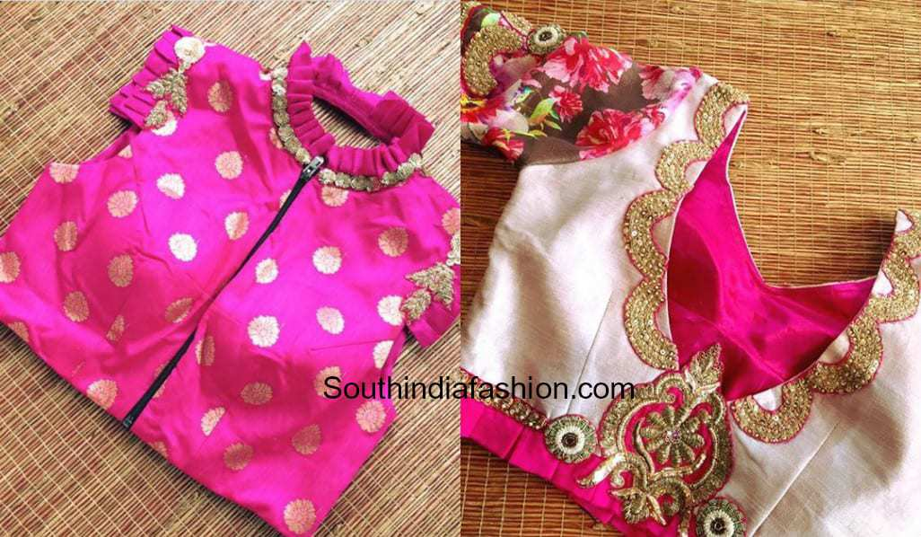Simple and stylish wedding party blouse designs