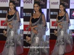 Tridha Choudhury in an organza saree at Alt Balaji Digital Awards