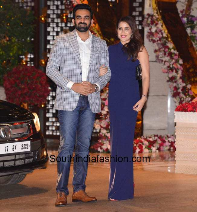 Zaheer Khan and Sagarika Ghatge at Akash Ambani and Shloka Mehta's Pre Enagagement Bash
