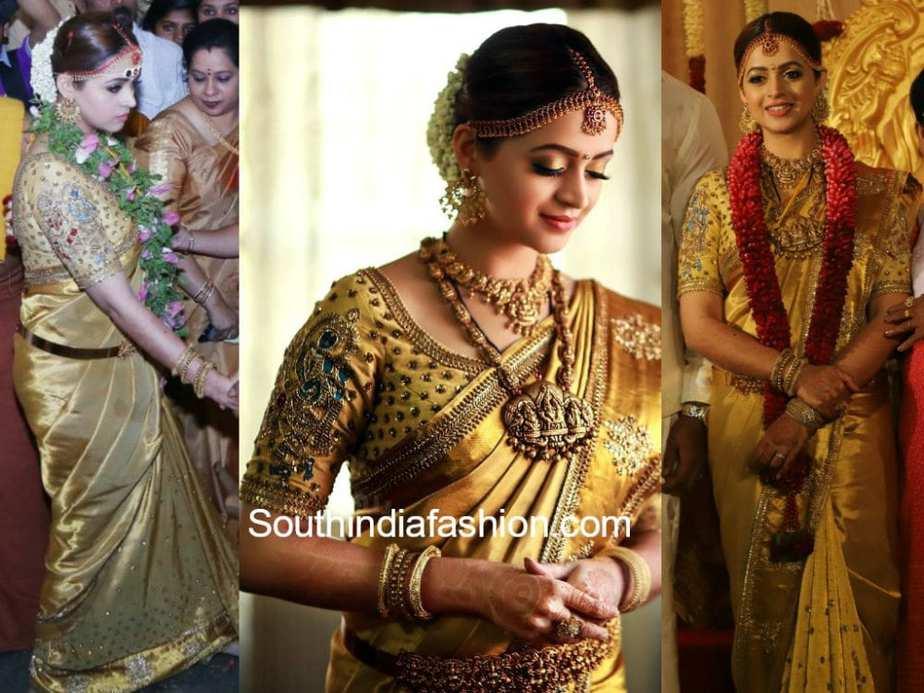 Actress bhavana wedding saree altavistaventures Gallery