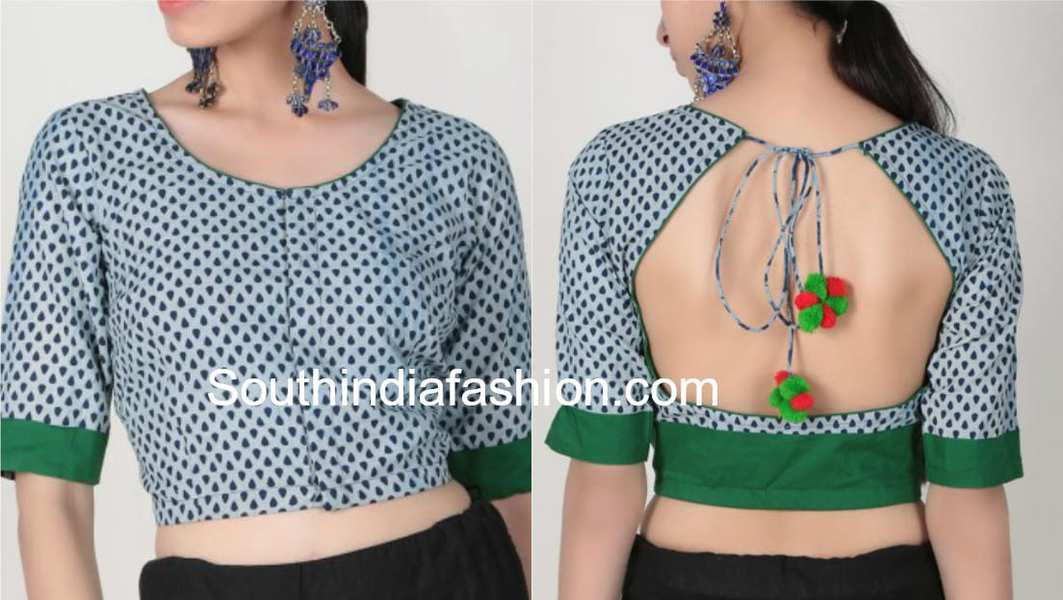 Cotton Saree Blouse Designs For Stylish And Trendy Look