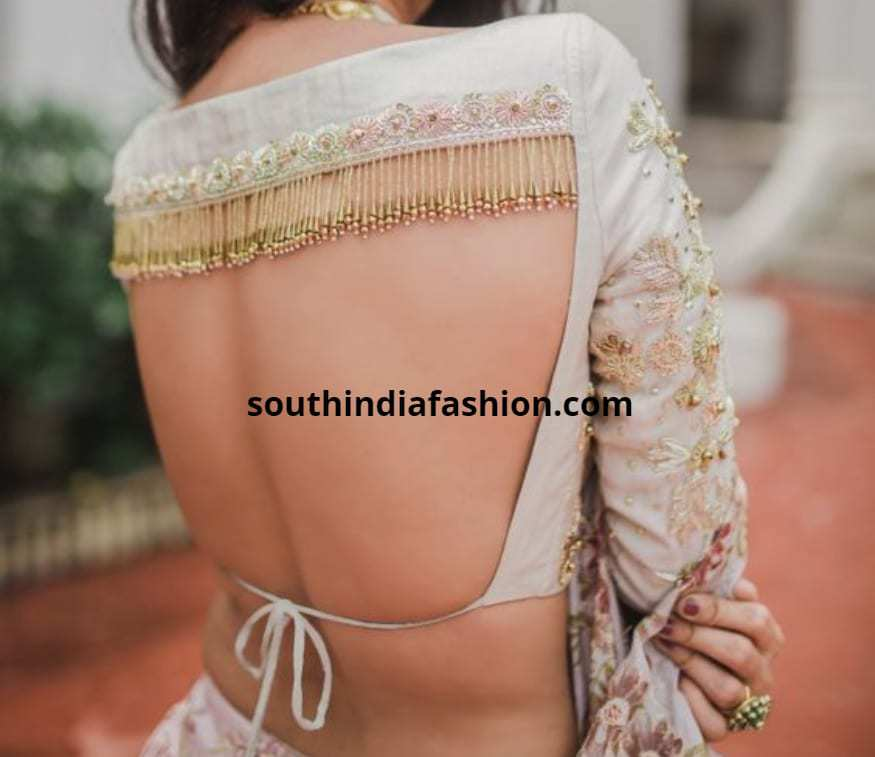 Backless Blouses for sarees