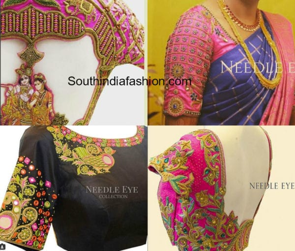 maggam work blouse designs for wedding silk sarees
