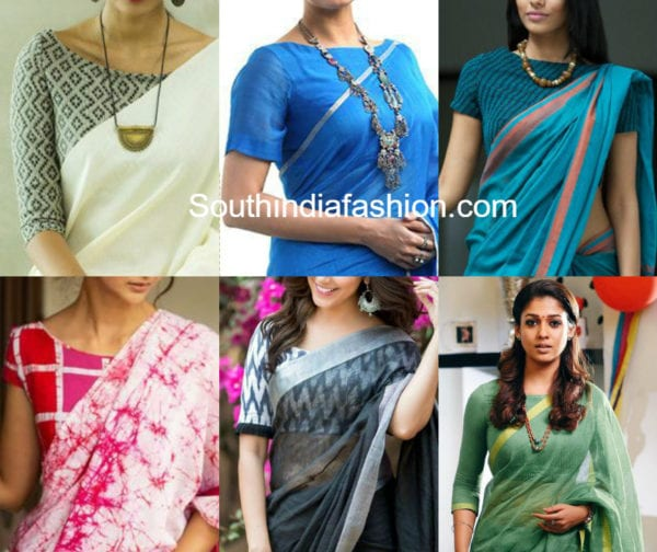 boat neck blouse designs for formal office wear sarees