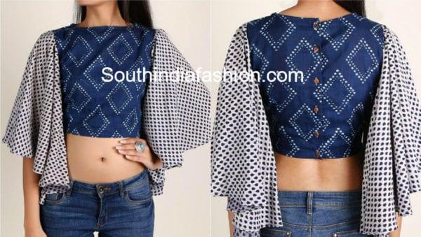 stylish cotton saree blouse neck designs images