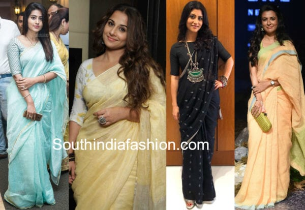 hot to style and accessorize linen sarees