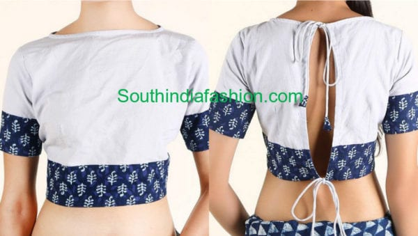 latest cotton saree blouse designs