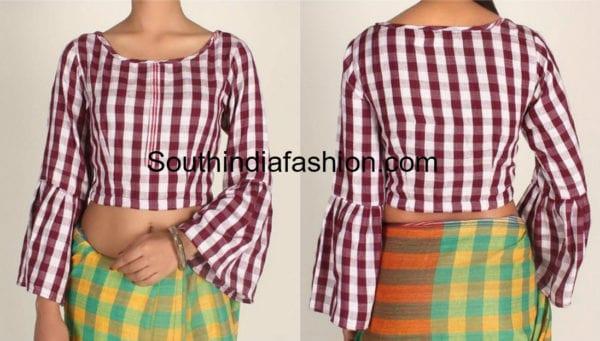cotton saree blouse designs