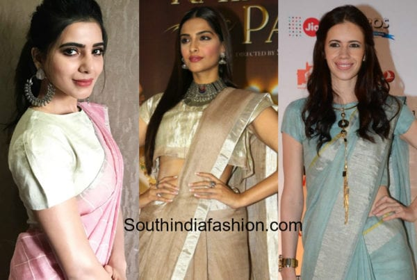 jewellery with linen sarees and cotton sarees