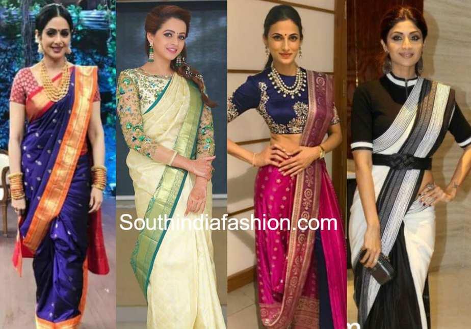 silk saree draping styles