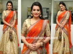 diksha panth half saree big bazaar launch