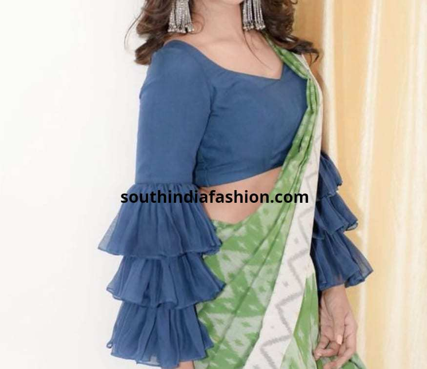 Elaborate Ruffled blouse designs