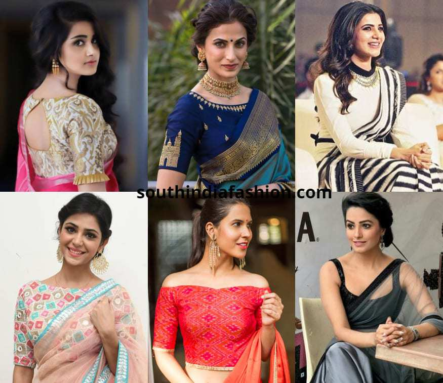 latest saree blouse patterns 2018