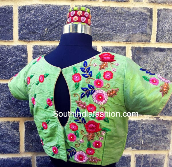 floral maggam work blouse