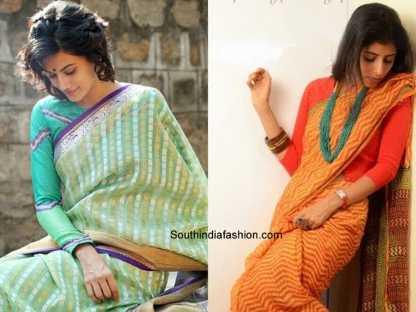 office-saree-blouse