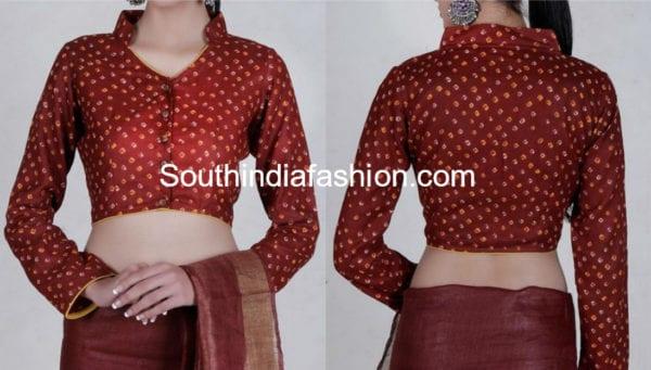 cotton saree blouse neck designs images