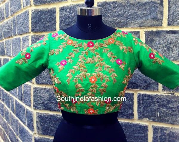 maggam work saree blouse