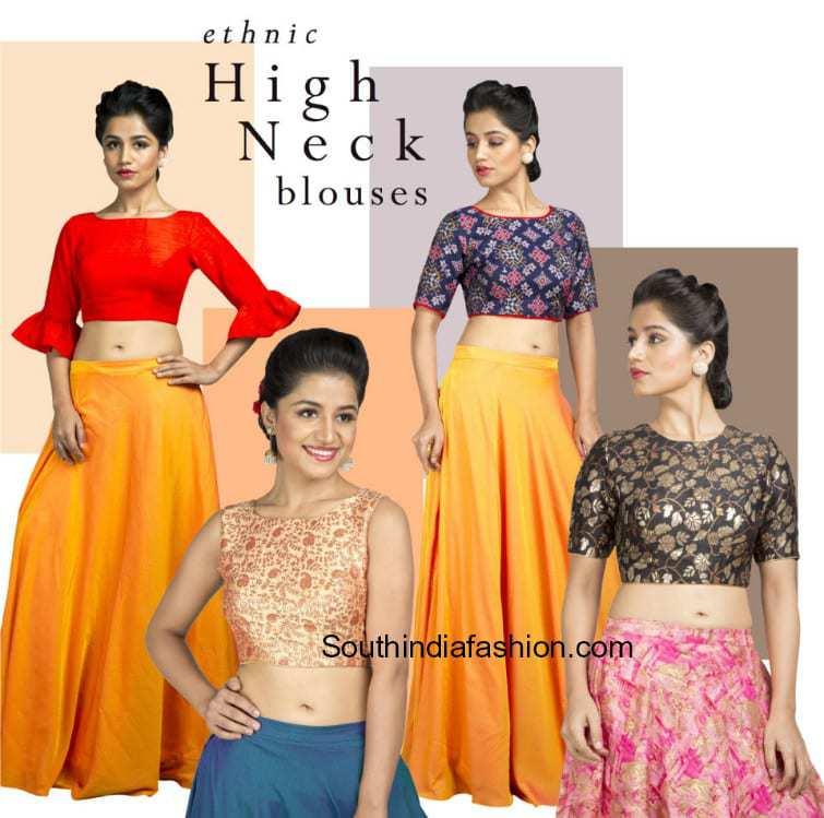 high neck blouses