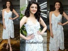 kajal aggarwal white dress mla promotions