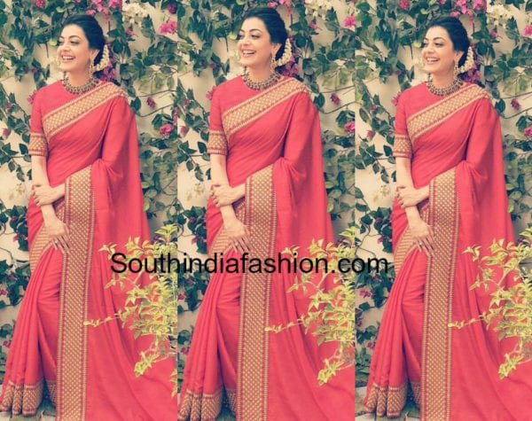 KAJAL AGGARWAL IN RED SAREE