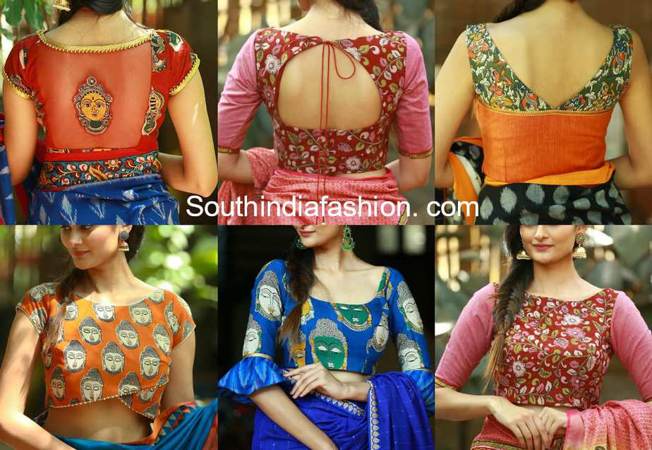 02f150c4fd1c97 Beautiful Readymade Kalamkari Blouse Designs - Shop Online!