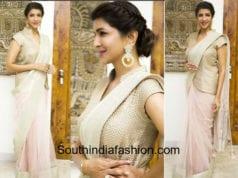 lakshmi manchu saree with jacket