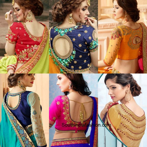 latest neck designs for saree blouse 2018