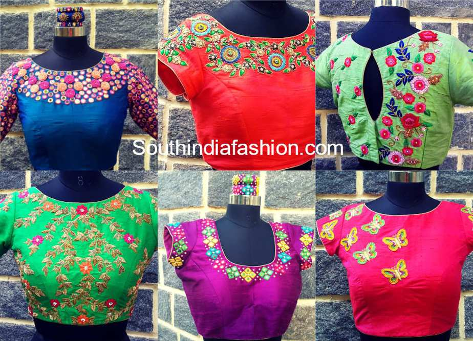 latest maggam embroidered blouse designs
