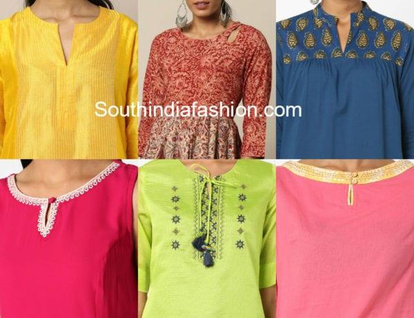 neck patterns and salwar kameez