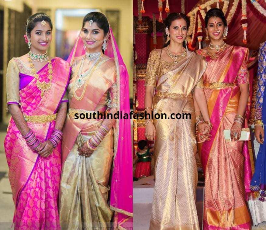 light color bridal pattu sarees