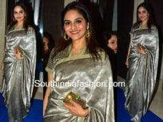 madhoo shah in silver saree at hello hall of fame awards 2018