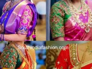 2018 maggam work pattu saree blouse designs