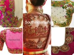 maggam workj blouse designs by needle eye