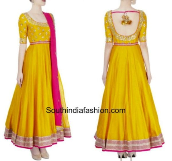 yellow mehendi dress