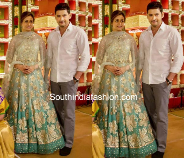 Namrata shirodkar in tarun tahilaini anarkali at chukkapalli wedding